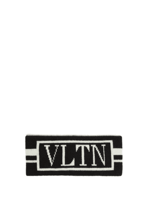 Valentino - Vltn Logo Intarsia Wool Blend Headband - Mens - Black