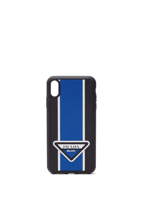 Prada - Logo-stripe Iphone® Xs Max Rubber Phone Case - Mens - Blue
