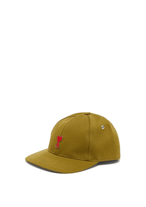 Ami - Logo-embroidered Cotton Cap - Mens - Green