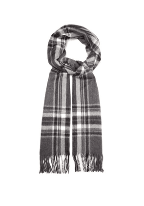 Begg & Co. - Jura Checked Wool-blend Scarf - Mens - Grey Multi