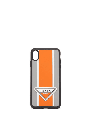 Prada - Logo-stripe Iphone® Xs Max Rubber Phone Case - Mens - Orange