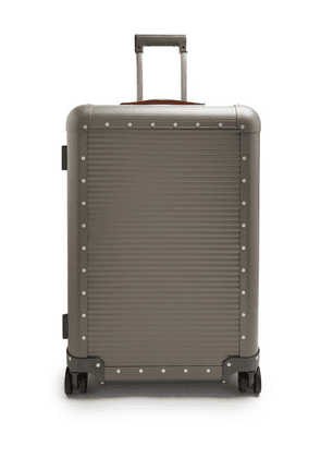 Fabbrica Pelletterie Milano - Spinner 68 Stud-embellished Suitcase - Mens - Grey