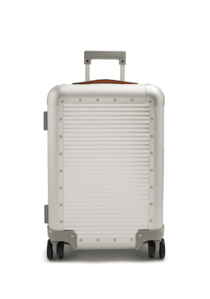 Fabbrica Pelletterie Milano - Spinner 53 Stud-embellished Cabin Suitcase - Mens - Silver