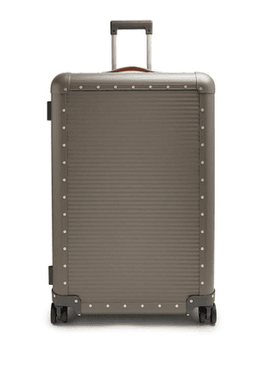 Fabbrica Pelletterie Milano - Spinner 76 Stud-embellished Suitcase - Mens - Grey