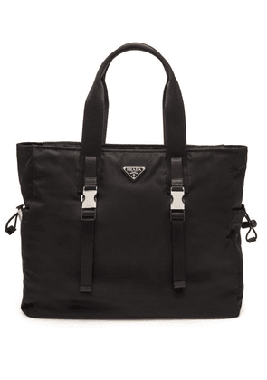 Prada - Triangle Logo-plaque Nylon Weekend Bag - Mens - Black