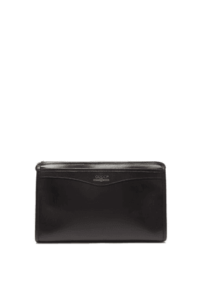 Gucci - Logo Print Leather Wash Bag - Mens - Black