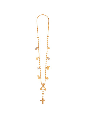 Dolce & Gabbana - Charm Rosary Necklace - Womens - Gold