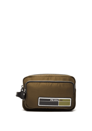 Prada - Logo Patch Nylon Pouch - Mens - Khaki
