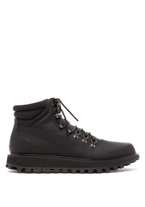 Dolce & Gabbana - Padded Matte Leather Hiking Boots - Mens - Black