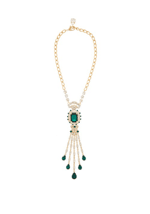 Dolce & Gabbana - Crystal Necklace - Womens - Green