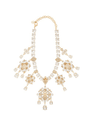 Dolce & Gabbana - Crystal-drop Necklace - Womens - Gold