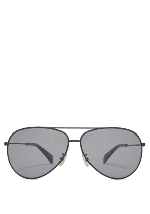Celine Eyewear - Aviator Metal Sunglasses - Mens - Black