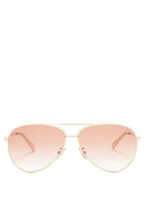 Celine Eyewear - Aviator Metal Sunglasses - Mens - Gold