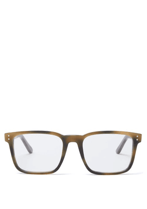 Celine Eyewear - Square Tortoiseshell-acetate Glasses - Mens - Green
