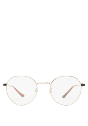 Gucci - Round Metal Glasses - Mens - Gold