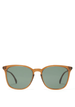 Gucci - Logo Inlay Round Lens Acetate Sunglasses - Mens - Brown