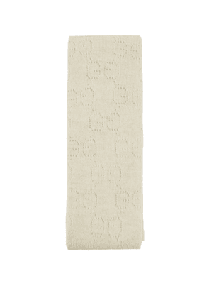 Gucci - Gg Wool And Lurex Tights - Womens - Cream