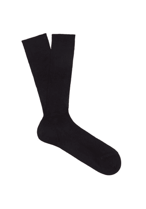 Raey - Set Of Three Silk Socks - Mens - Black