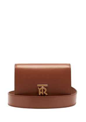 Burberry - Monogram-clasp Leather Belt Bag - Womens - Tan
