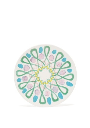 Peter Pilotto - Abstract-print Small Ceramic Plate - Green Multi