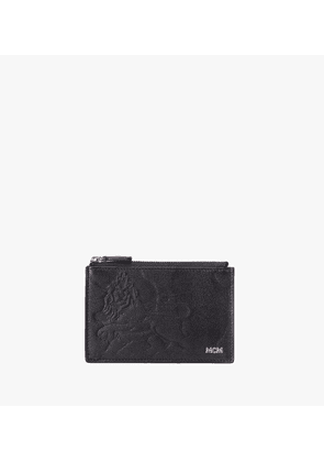 Coin Card Holder In Embossed Lion Camo