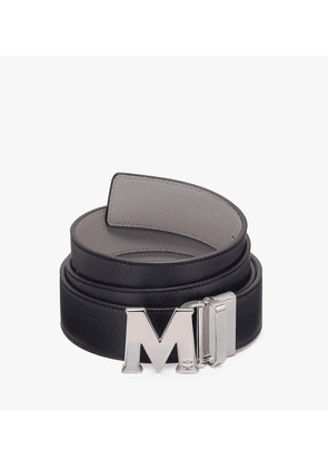 Claus Flat M Reversible Belt 1.5' In Logo Leather