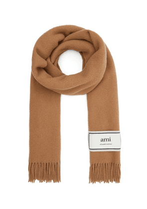 Square Logo Patch Wool Scarf