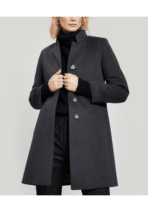 Classic Single-Breasted Wool Coat