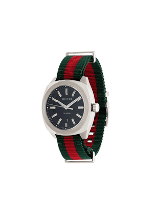 Gucci metallic GG2570 web strap stainless steel watch - Multicoloured