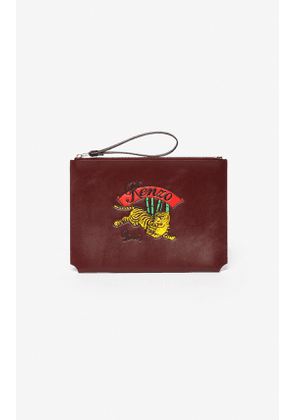 KENZO A4 'Jumping Tiger' leather clutch