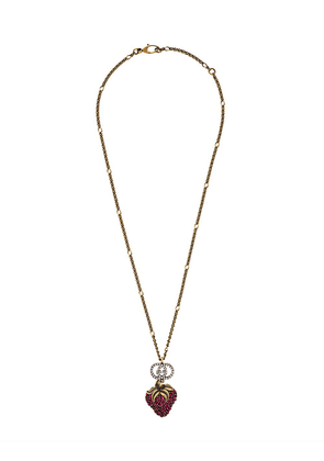 Gucci strawberry pendant necklace - Gold