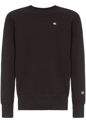 Champion black logo embroidered cotton sweatshirt