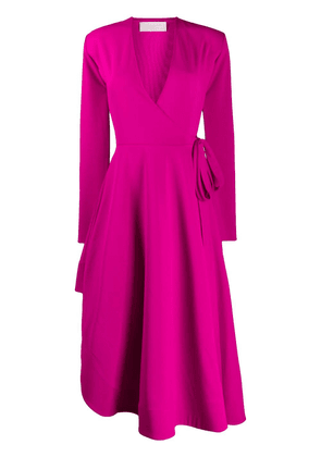 Esteban Cortazar asymmetric draped column dress - PINK