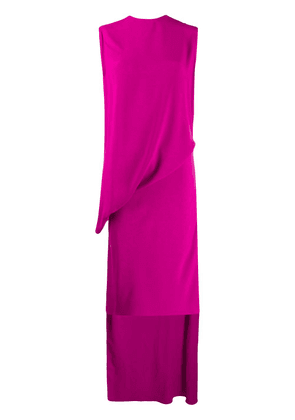 Esteban Cortazar wrap flamenco jersey dress - PINK