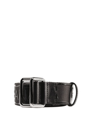 Black Logo Fabric Belt