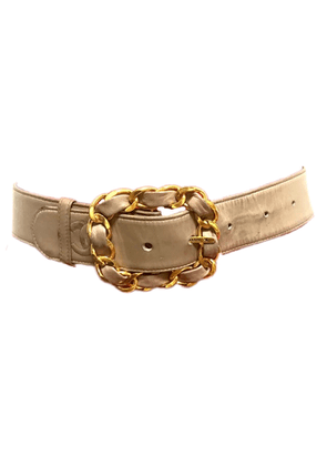 Chain Embossed Leather Belt