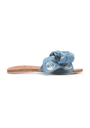 Blue Women's Blue Denim Burkina Sandal