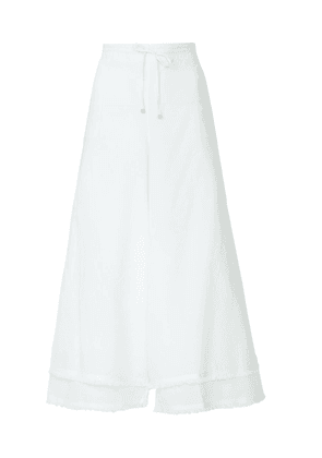 White Women's Two-Layer Culottes