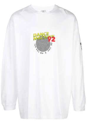 White Men's Vintage Rave '92 Long Sleeve Top