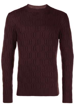 Eleventy knit jumper - Red