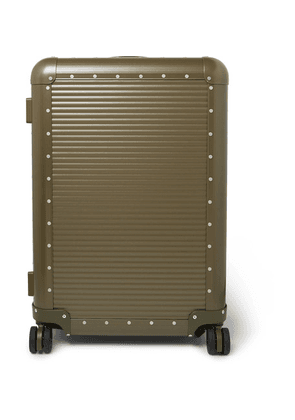 Fabbrica Pelletterie Milano - + Nick Wooster Bank Spinner 68cm Aluminium Suitcase - Green