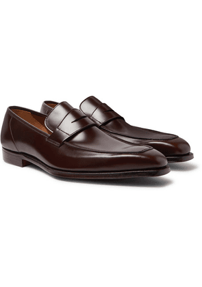 George Cleverley - George Leather Penny Loafers - Brown