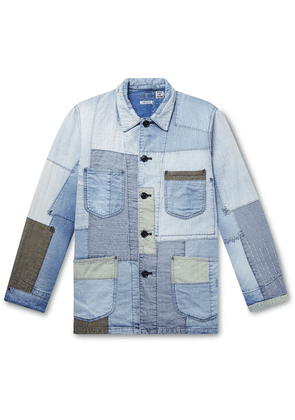 Blue Blue Japan - Yuki Fubuki Embroidered Patchwork Denim Jacket - Blue