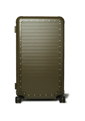 Fabbrica Pelletterie Milano - + Nick Wooster Bank Trunk On Wheels Aluminium Suitcase - Green