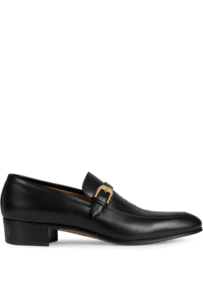 Gucci stud logo loafers - Black