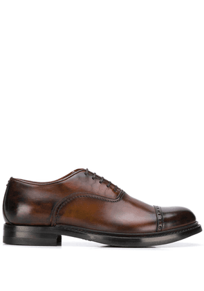 Eleventy brogue detail oxford shoes - Brown