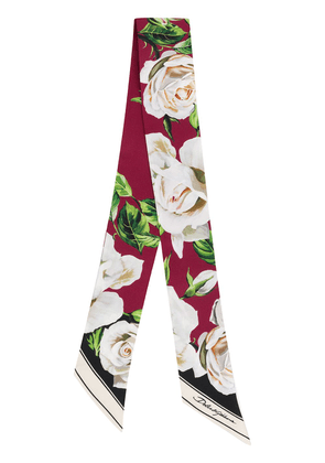 Dolce & Gabbana floral print scarf - Red