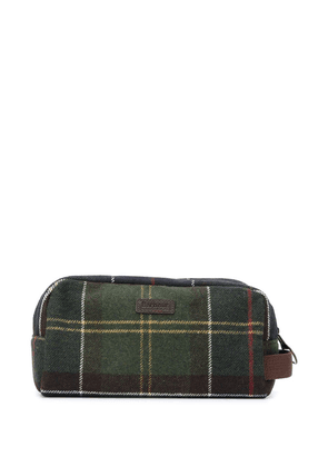 Barbour check pattern wash bag - Green