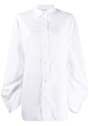 Circus Hotel extra long sleeve shirt - White