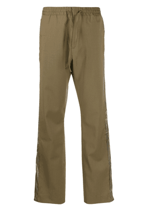 Cmmn Swdn tailored hibrid drawstring trousers - Green